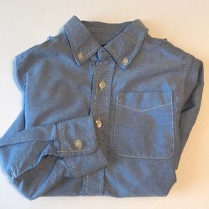BOY'S OSHKOSH CHAMBRAY LONG SLEEVE SHIRT SIZE 10